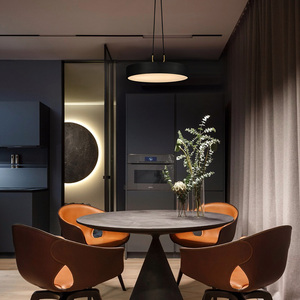 Image 3 - Aisilan minimalist LED pendant light Nordic style Cylindrical Modern for dining room cafe bar personality pendant lamp