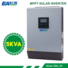 5KVA 태양 광 인버터 4000W 48V 230V 순수 사인파 하이브리드 인버터 내장 60A MPPT 오프 그리드 태양 컨트롤러 배터리 충전기