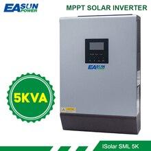 Inversor Solar híbrido de onda sinusoidal pura de 5KVA, 4000W, 48V, 230V, MPPT integrado de 60A, cargador de batería con controlador Solar fuera de la red