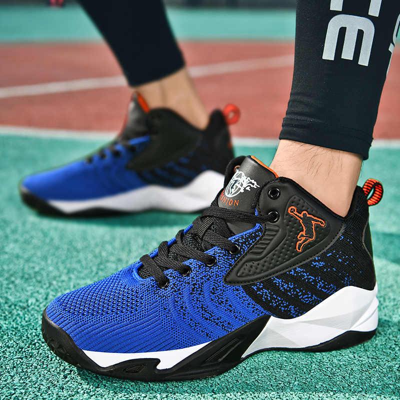 ใหม่High-Top Jordanบาสเกตบอลรองเท้าผู้ชายกลางแจ้งรองเท้าผ้าใบผู้ชายสวมใส่Air Cushioningรองเท้าBreathableกีฬารองเท้าUnisex
