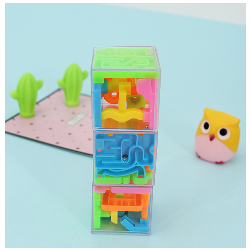 UainCube 3D 6-face Maze Pass Game Cube Puzzle Maze Toy Hand Patience Games Challenge Toys Balance Educational Toys For Children