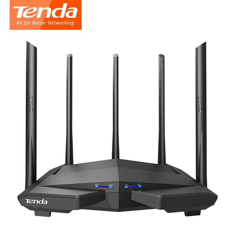 Беспроводной Wi-Fi роутер Tenda AC11/AC6/AC7/AC10, гигабитный двухдиапазонный ретранслятор AC1200 с антеннами с высоким коэффициентом усиления 5*6 дБи, боле...