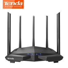 Tenda ac11/ac6/ac7/ac10 wireless wifi roteador gigabit repetidor de banda dupla ac1200 com 5 * 6dbi antenas de ganho alto cobertura mais ampla
