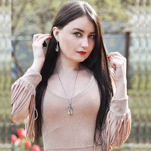 Image 2 - DreamCarnival1989 Big Dazzling Zirconia Necklace + Earrings Set Fashion Gift Hot Pick Anniversary Dating Must Have EP3876S2