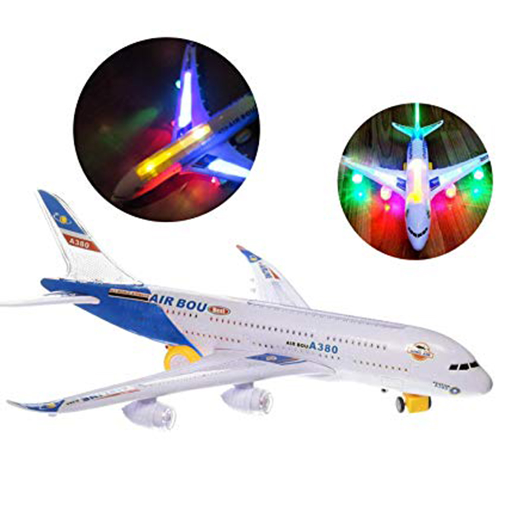 Model Electric Kids Action Toy Airplane Plane With Lights And Sounds Toy Planes For Boys And Girls Safety Plastic Aircraft #40(China)