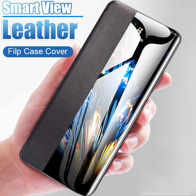 Side Window Soft TPU Leather Case for Huawei Honor 10 10i 20i 20 Pro 8X 9 P20 P30 Mate 20 Lite Nova 3 4 P Smart Y6 2018 Y7 2019(China)
