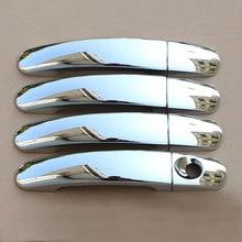 Carmilla ABS 크롬 자동차 도어 핸들 커버 트림 포드 포커스 2 MK2 II 포커스 3 MK3 III 4 MK4 C Max Kuga 탈출 스티커