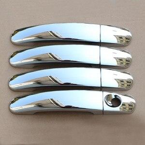 Image 1 - Carmilla ABS 크롬 자동차 도어 핸들 커버 트림 포드 포커스 2 MK2 II 포커스 3 MK3 III 4 MK4 C Max Kuga 탈출 스티커
