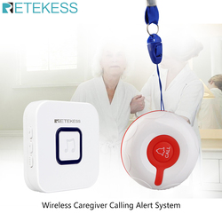 Retekess Wireless Caregiver Pager Nurse Calling Alert Patient Help System for Home Care/Personal Attention Call Button/Receiver
