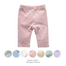 Spodnie dla niemowląt dla dziewczynek i chłopców noworodek czyste spodnie bawełniane miękkie długie spodnie 7 kolorów odzież dla niemowląt matka dzieci 0-24m strój tanie tanio Stałe Proste Unisex COTTON Europejskich i amerykańskich style Pasuje prawda na wymiar weź swój normalny rozmiar Suknem