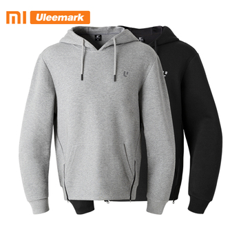Xiaomi Men's Hooded Sweatshirt Pullover Hoodie with Kangaroo Pocket Sweatshirt with Lined Drawstring Hood Fashion Uleemark цена 2017