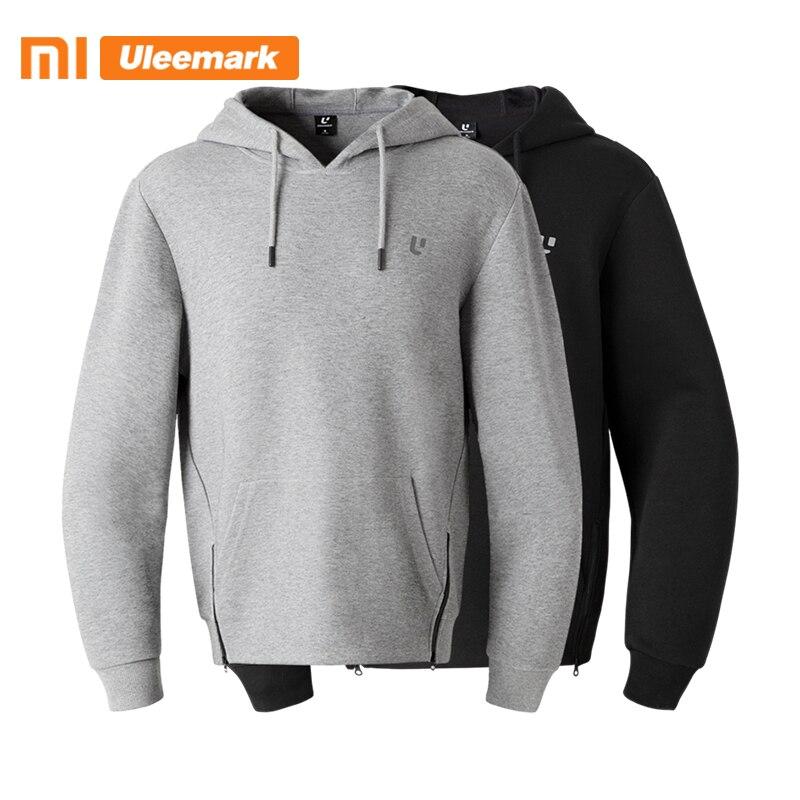 Мужская толстовка с капюшоном Xiaomi, Модный пуловер с карманами кенгуру и капюшоном на подкладке, Uleemark|Толстовки и свитшоты|   | АлиЭкспресс