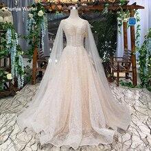 HTL286 Bohemian wedding kleid einfache hülse schal v ausschnitt sleeveless backless handmade A linie robe de bal