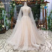 HTL286 Della Boemia abito da sposa semplice scialle manica con scollo a v senza maniche backless handmade a Line robe de bal