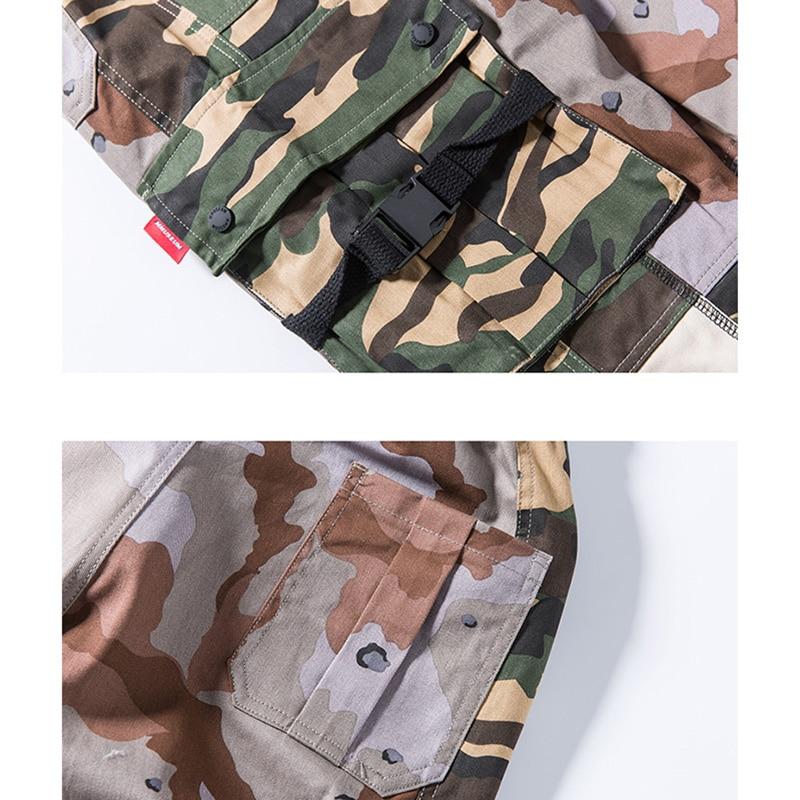 2019 Hip Hip Cargo Pants Camouflage Color Block Men Harajuku Pant Joggers Streetwear Pocket Retro Camo Harem Pant Trousers Baggy