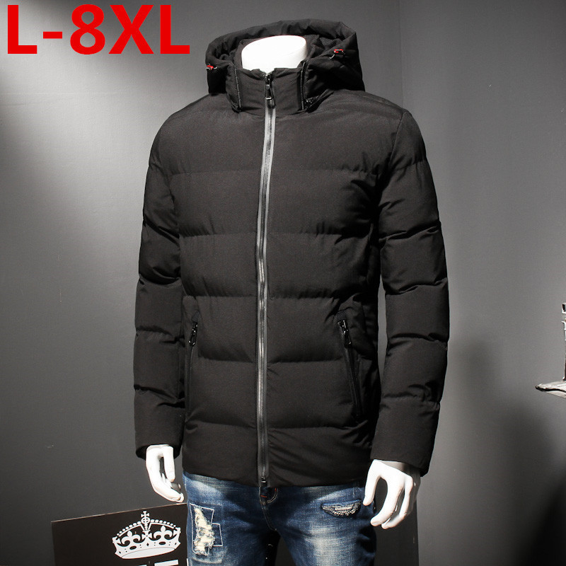 8XL 7XL Plus Size   Winter Jacket  Men Loose Thick Warm Top Quality Windproof Clothes For Men Fashion Cotton-padded Clothes