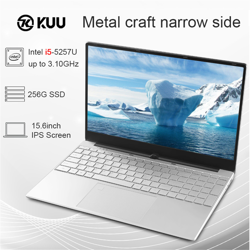 2020 New Arrival 15 6 inch intel i5 5257U Gaming Laptop Metal Body Notebook 8GB RAM 512 GB SSD Backlit Keyboard Fingerprint