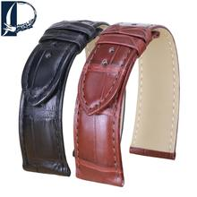 Pesno Suitable Alligator Leather Watchband 19mm 20mm Leather Watch Strap Black Brown Band