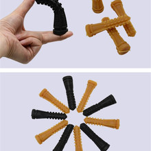 New 100pcs/lot 9.5 cm Poultry Plucking Fingers Hair Removal Machine Glue Stick Chicken Plucker Beef tendon material corn rod