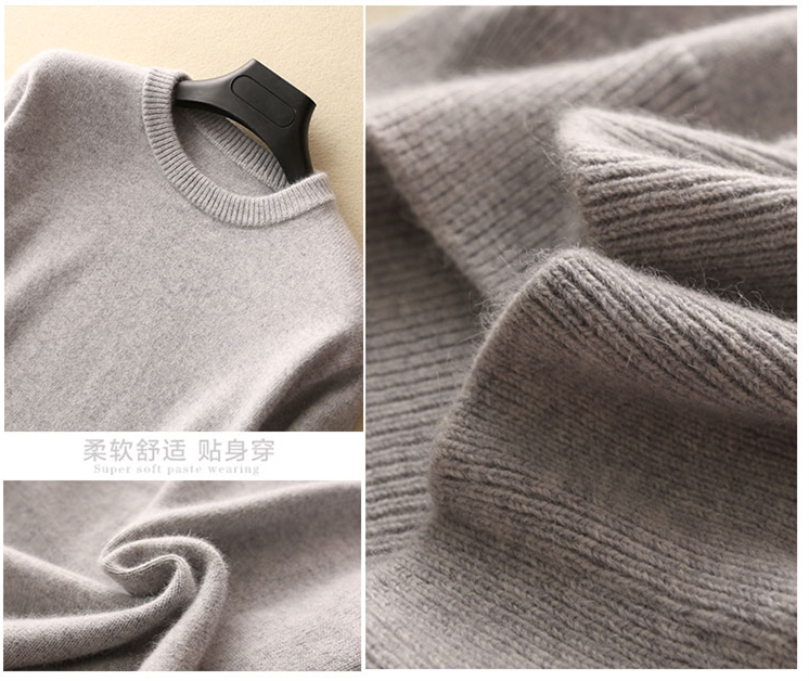 Hot Selling Cashmere Cotton Blended Thick Pullover Men Sweater autumn winter jersey Jumper hombre pull Knitted sweater 6