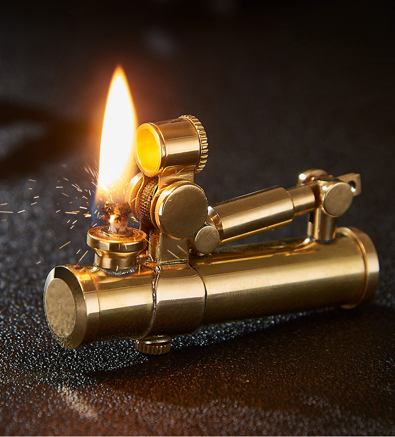 Retro Douglas Pure Copper Lighter Automatic Mechanical Type