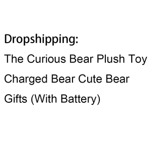 The Curious Bear Plush Toy Charged Bear Cute Bear Gifts 24CM