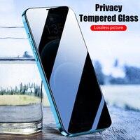 واقي شاشة زجاج مقاوم للتجسس لهاتف آيفون 11 × XS 9D زجاج مقسى أسود مقاوم للتجسس لهاتف آيفون 12 برو ماكس 12 حامي شاشة صغير للخصوصية