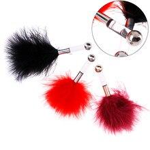 Pareja coqueteo plumas juguetes de sexo estimulante para pareja erótico cosquillas pezón coqueteo juguete colorido pluma adultos juego suministros