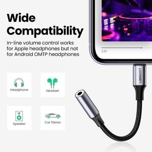 Image 4 - Ugreen MFi ברקים כדי 3.5mm אוזניות מתאם עבור iPhone 12 11 פרו 8 7 Aux 3.5mm שקע כבל עבור ברק מתאם אביזרים