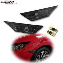 IJDM (2)-lente ahumada JDM para izquierda y derecha, lámpara con indicador lateral para Honda Civic Sedan/Coupe/Hatchback, 2016-up, 10. ª generación, color blanco ámbar