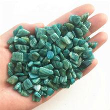 7-9mm naturalne niebieski amazonit kamień kryształ szorstki kamień kamień mineralny wzór akwarium dekoracji naturalne kryształy kwarcu 50g tanie tanio doxa FENG SHUI CHINA Miłość