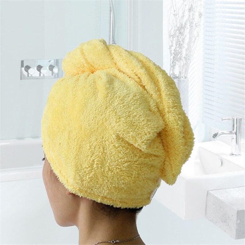 Image 4 - Giantex 女性タオル浴室マイクロファイバータオル迅速な乾燥ヘアタオルバスタオル toallas microfibra  toalha デ banho    グループ上の ホーム