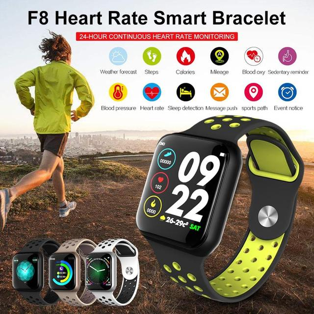 Wearpai Newest Smart Watch F8 Heart Rate Monitor Waterproof IP67 Fitness Tracker Watch Sleep Monitor for IOS Android 1