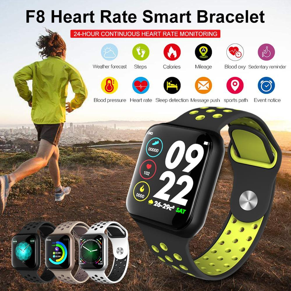 Wearpai Newest Smart Watch F8 Heart Rate Monitor Waterproof IP67 Fitness Tracker Watch Sleep Monitor for IOS Android
