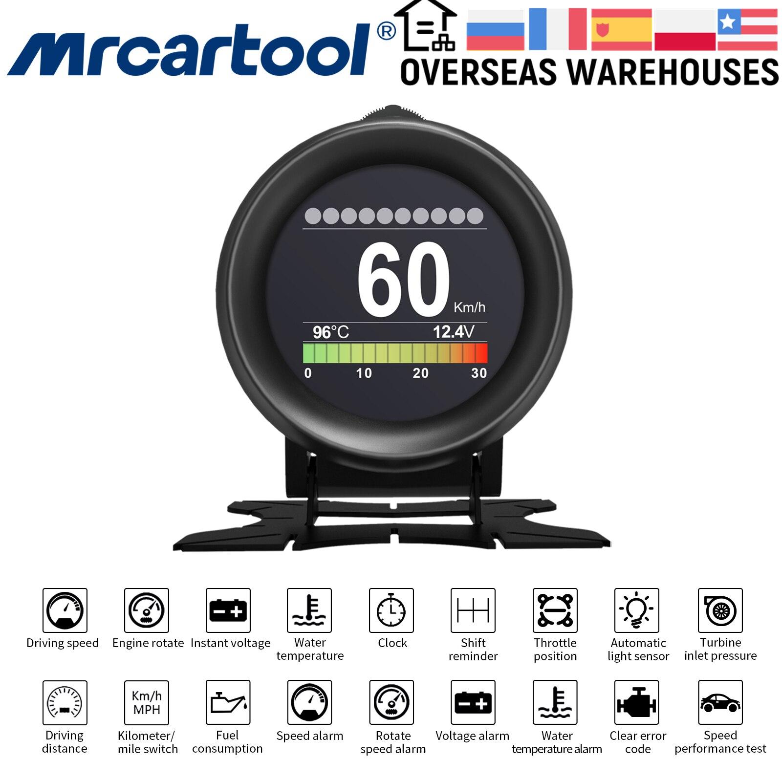 Автомобильный датчик давления MR CARTOOL M3 HUD, цифровой измеритель температуры, воды и масла, с сигнализацией