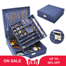 Makeup Organizer Necklace Jewelry-Box Storage-Box Ring Choker Layout Square Flannel Best-Selling
