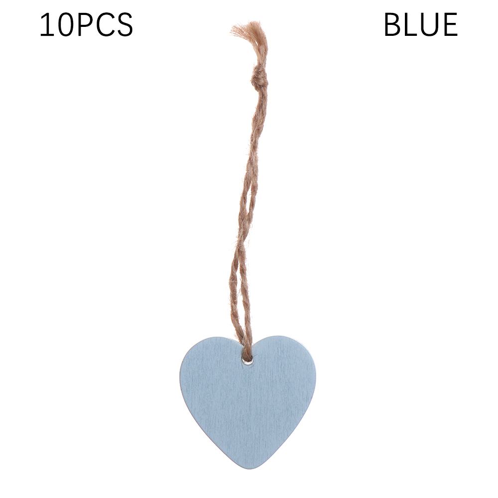 10pcs Unfinished Wooden Tags Mixed Style Gift Labels Pendents Tree Ornaments