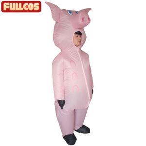 Image 5 - Rosa porco inflável trajes de porco para adultos animal halloween carnaval cosplay festa fantasia vestido feminino masculino aniversário roupas rosa