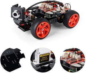 Sunfounder Car-Kit Camera Smart-Video-Robot Raspberry Electronic-Toy Pi with Remote-Control