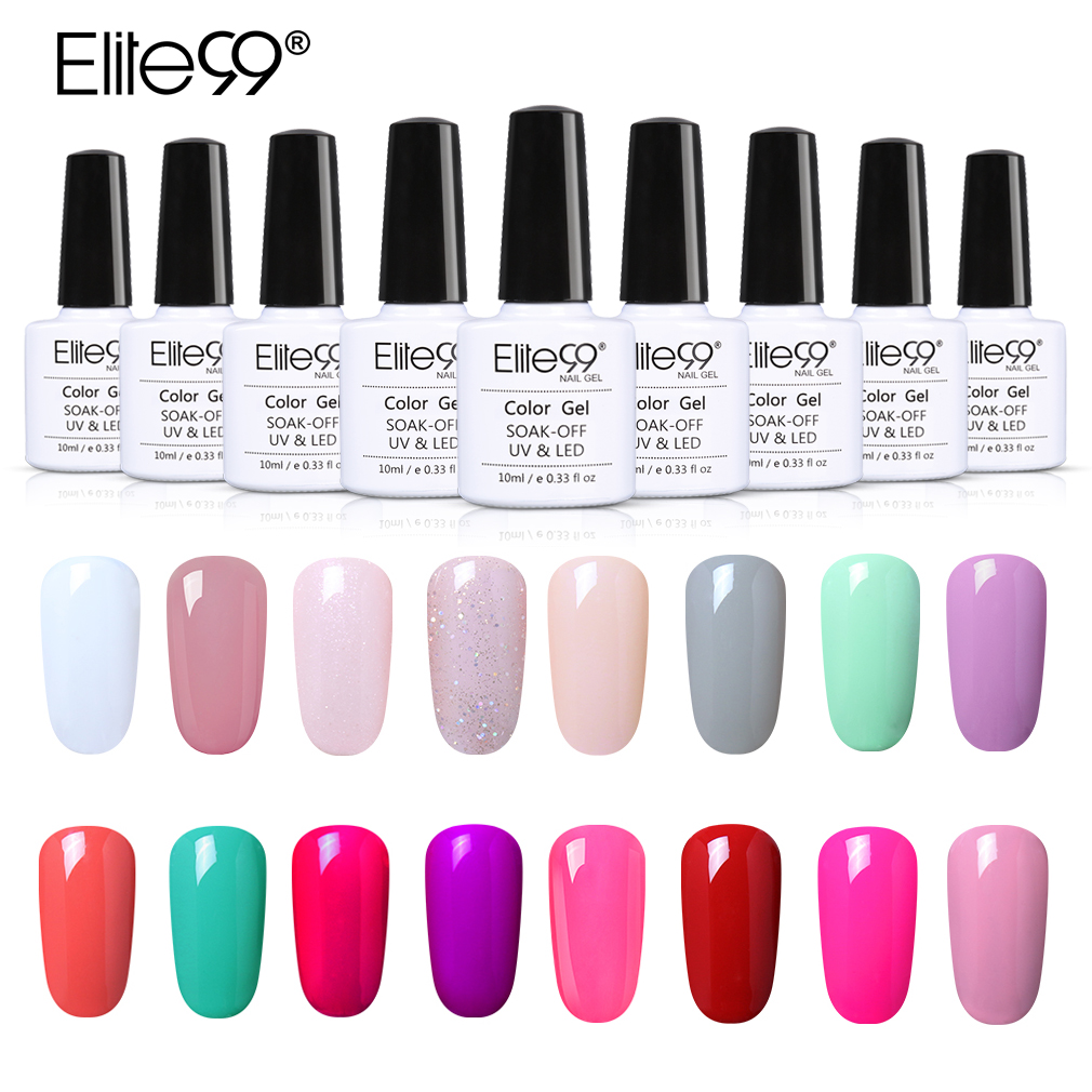 Elite99 10ml Pure Color Gel Varnish Soak Off UV Ge