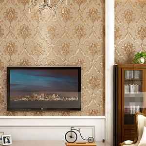 Image 3 - European Style PVC Waterproof Wallpaper Luxury Damask 3D Stereoscopic Relief Damascus Bedroom Living Room Wall Paper Home Decor