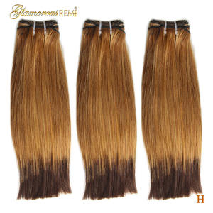 Bundles Hair Weave-Extensions Double-Drawn Straight Ombre Brazilian 2-Tone -27--4 Fumi