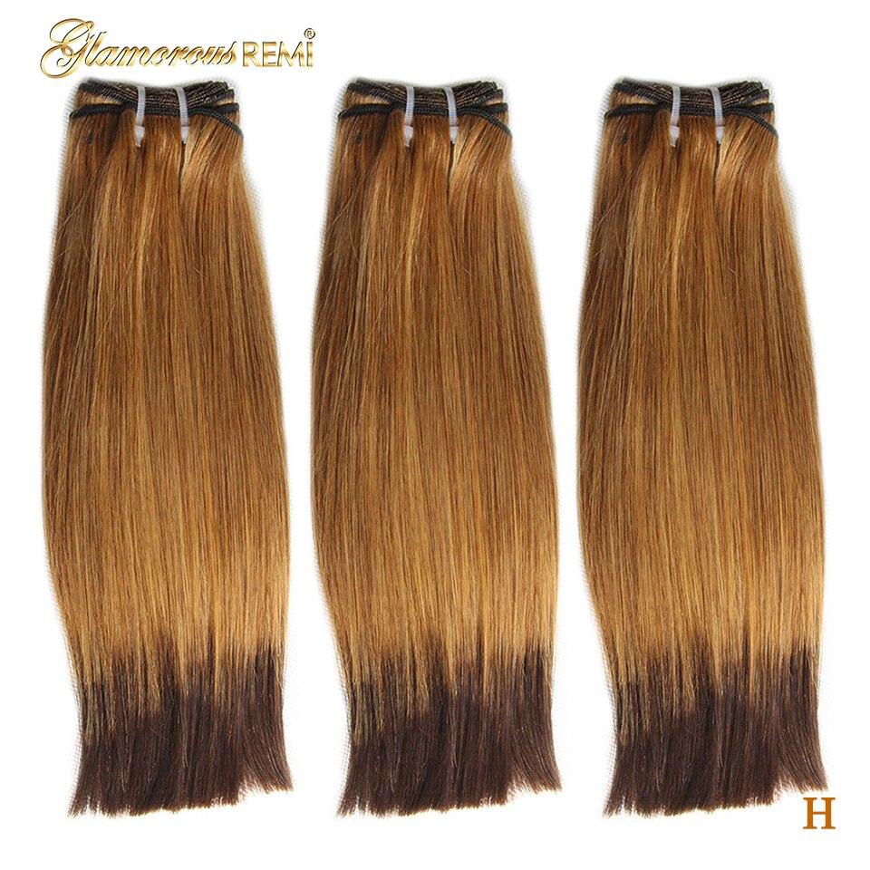 Brazilian Rmey Hair Funmi Double Drawn Straight Human Hair Bundles Weave Extensions 2 Tone Ombre #27 #4 Fumi Hair High Ratio