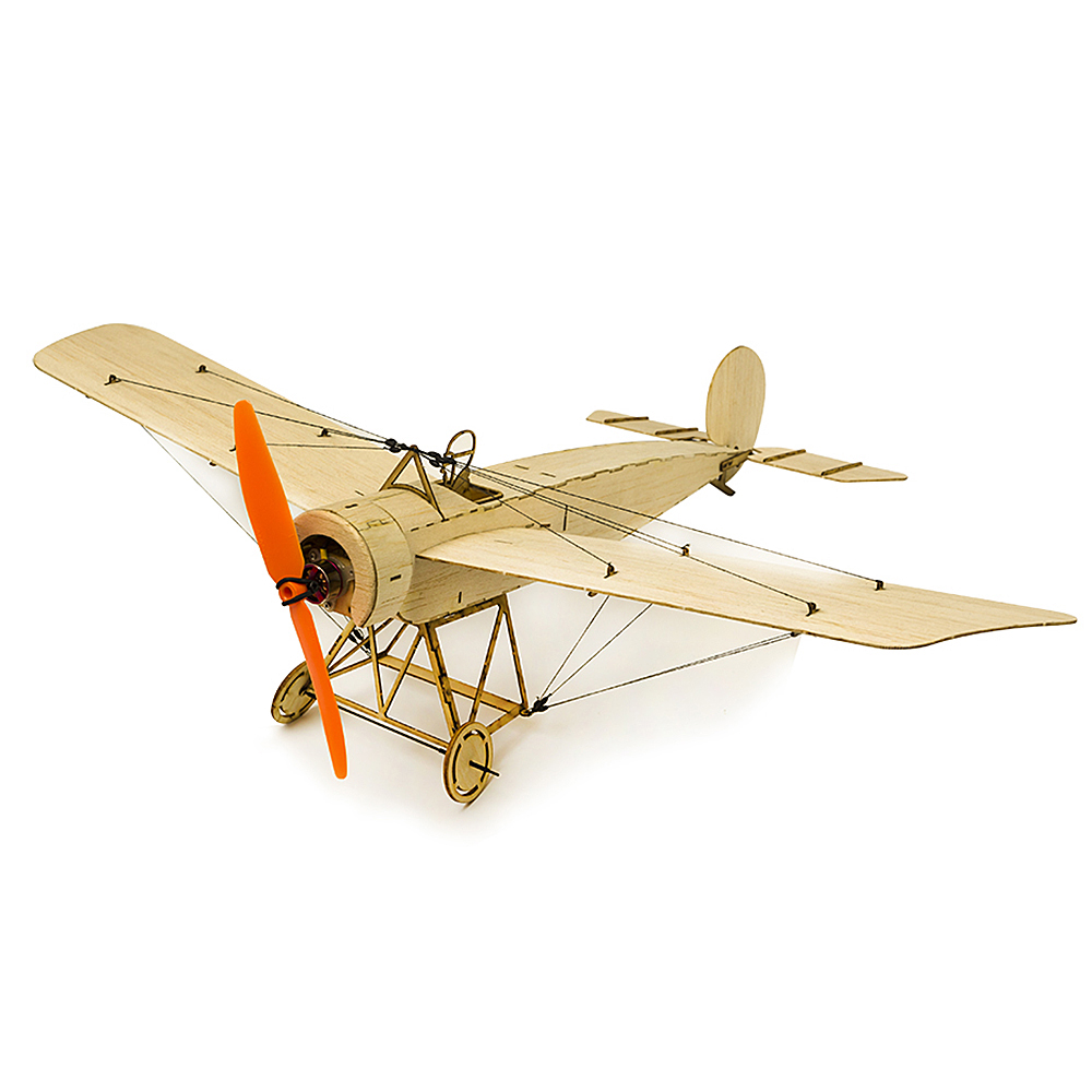 K0801 Mini RC Airplane Fokker-E Balsa Wood 420mm Wingspan Biplane RC Aircraft Plane KIT for DIY Toys image