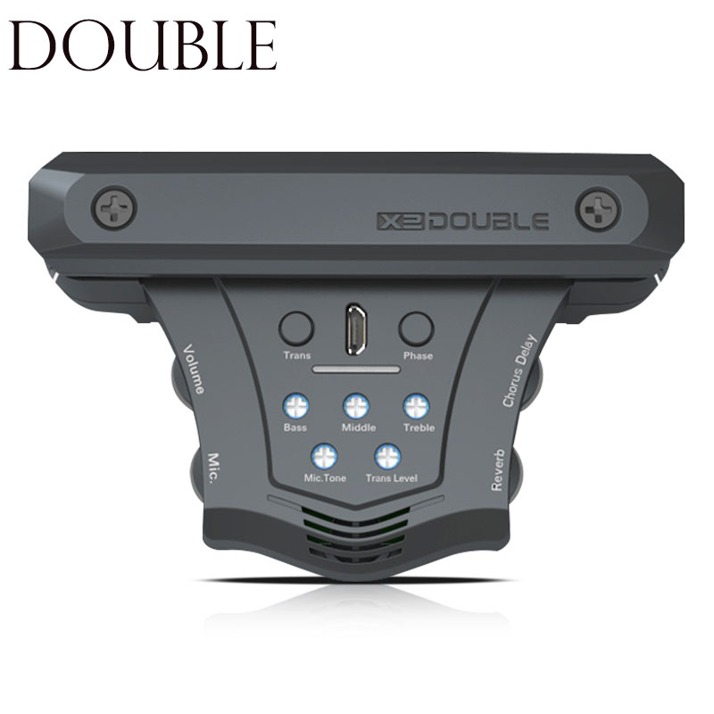 DOUBLE G0 Acoustic Guitar Pickup Chorus Delay Reverb Effects Magnetic Pickups Piezo Soundhole Frequency Mic Guitar Accessories
