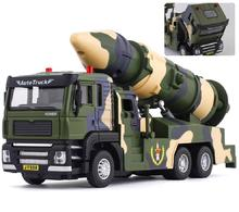 Simulation Military Missile Vehicle Rocket Launcher Simulated Emission Of Sound And Light Home Furnishings Pull Back Alloy Toys