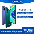 Cubot P40 смартфон NFC 4 Гб + 128 ГБ Sony AI Quad Камера Четвре Камеров 20MP селфи 6,2 дюймов 4200 мАч Google Android 10, две sim-карты, мобильные телефоны аппарат 4G LTE Подд...