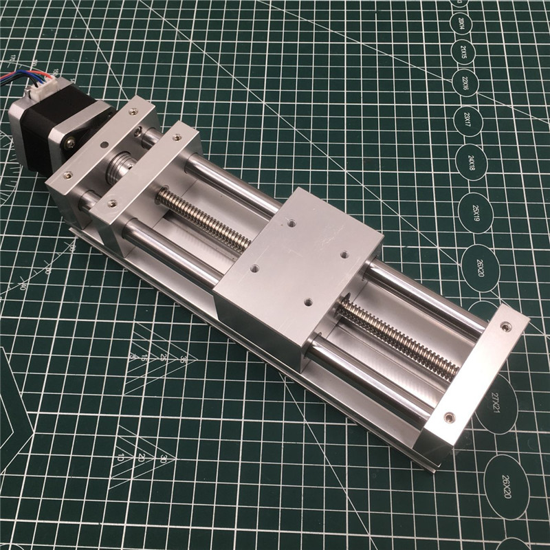 No Stepper Motor Z AXIS SLIDE Actuator Kit 120MM Travel ANTI-BACKLASH CNC Sliding ROUTER,3D PRINTER,PLASMA Cross Slide Kit