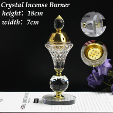 Furnace Incense-Burner Floral-Aroma-Lamp Crystal Candle Home-Ornament Arabian-Style Eid