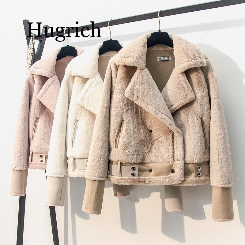 <font><b>Faux</b></font> <font><b>Mink</b></font> Rabbit <font><b>Fur</b></font> Teddy <font><b>Coat</b></font> Parkas Women Sheepskin Womens Winter Suede Leather Female Bomber Jacket Basic Jackets Harajuku image